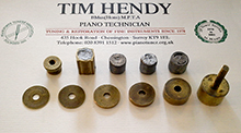 piano key weight gauges and lead weights
